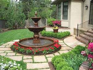 Custom garden fountains statuary in kansas city at for Outdoor patio fountains
