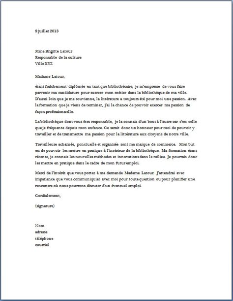 cover letter exle exemple de lettre de motivation pour une formation de secr 233 taire m 233 dicale