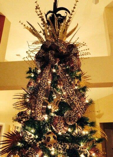 animal print christmas tree  holiday decorating