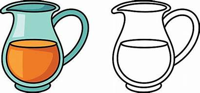 Jug Coloring Water Pitcher Clip Colorful Clipart