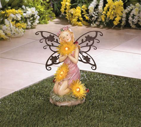 Garden Blooms Fairy Solar Statue Wholesale At Koehler Home