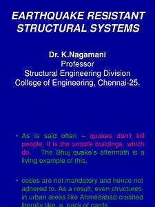 Earthquake Resistant Structural System 14 12 2006