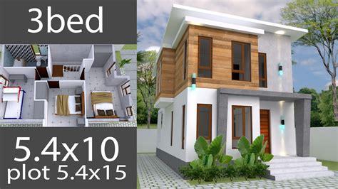 Small Home design Plan 5 4x10m with 3 Bedroom Samphoas Com