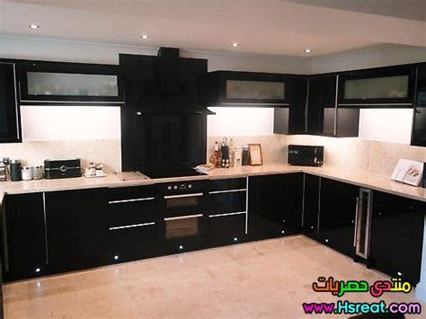 black shiny kitchen cabinets ديكور مطابخ تركية باللون الاسود في ازرق جديدة وعصرية 2015 4743