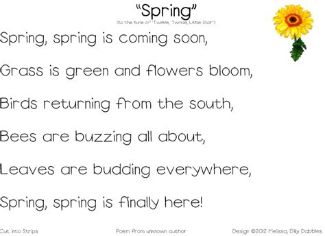 Short Poems About Spring