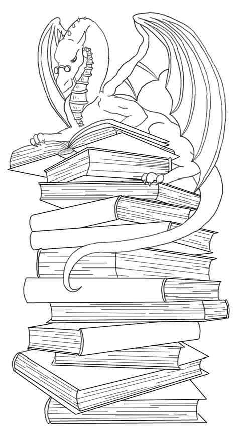 dragon bookmark lineart by Ankaraven on DeviantArt