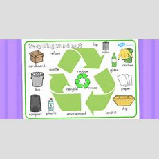 Free!  Recycling Word Mat  Recycling, Words, Visual, Literacy, Mat
