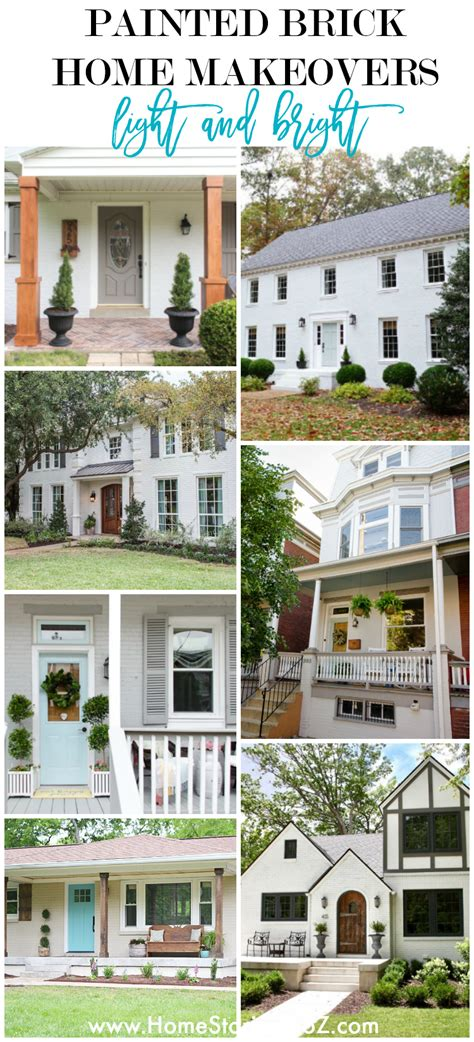 Before after house facelift photos exovations. Painted Brick Home Exterior Makeover Before and After Ideas