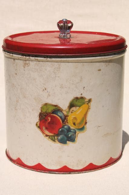 vintage metal kitchen canisters vintage metal bread box tin kitchen canisters retro