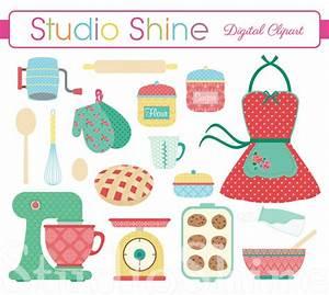 Retro Baking | Cooking Digital Clipart Set Clip Art PNG ...