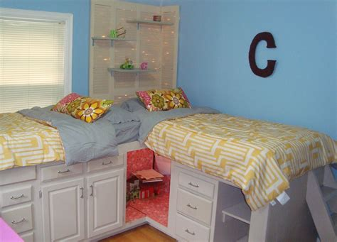 Bunkbeds With Storage From Kitchen Cabinets. There Is Even