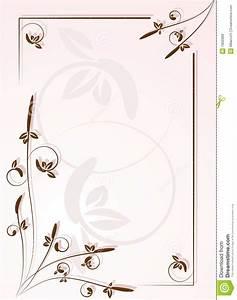 ornamental frame for letter royalty free stock images With frame for letter