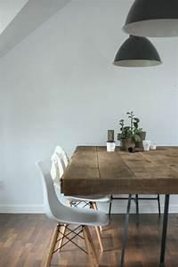Weiße Stühle Esszimmer : inspirierende holztische lassen die wohnung naturnah aussehen furniture m bel etc pinterest ~ Eleganceandgraceweddings.com Haus und Dekorationen