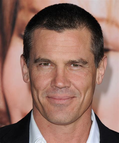josh brolin casual short straight hairstyle dark