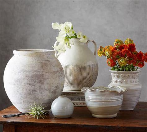 eclectic ivory ceramic vase pottery barn