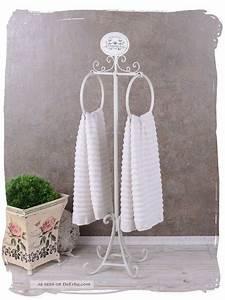 Shabby Chic Badezimmer : handtuchst nder shabby chic handtuchhalter weiss badezimmer vintage ~ Sanjose-hotels-ca.com Haus und Dekorationen