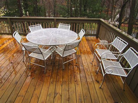 white painted metal patio furniture including large