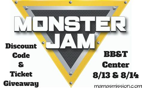 monster truck jam discount code monster jam discount code and family 4 pack ticket giveaway