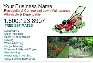 lawn care flyers landscaping postcards designsnprint
