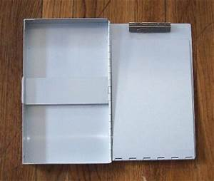 Vintage metal invoice holder clipboard nos garage gas for Metal invoice holder