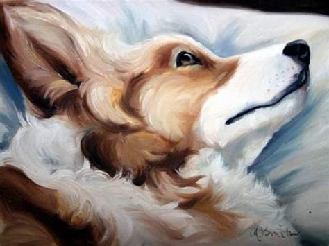 Print Pembroke Welsh Corgi Dog Puppy Art Oil Painting T