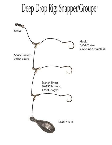 rig fishing rigs grouper bottom double hooks multiple sner threat charters