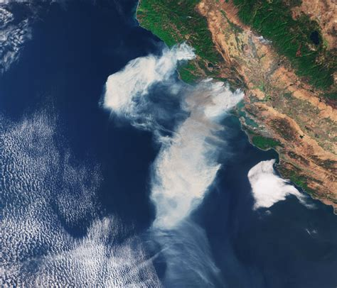 space  images   california fires