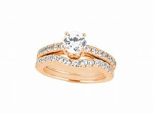 175ct round cut diamond engagement ring wedding band set for 18k gold wedding ring set