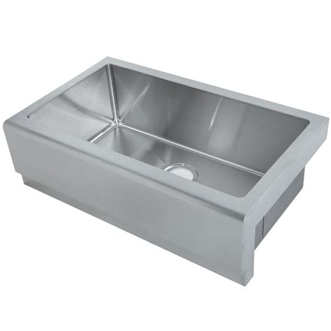 home depot stainless steel kitchen sinks y decor hardy undermount apron front stainless steel 33 in 8414