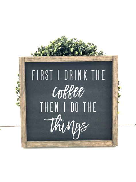 Erlood coffee menu know your coffee tin sign wall retro metal bar pub poster metal 12 x 8. Coffee Bar Sign | First I Drink The Coffee Then I Do The ...