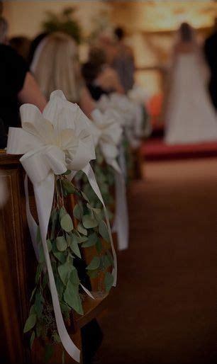 pew bow simple wedding pew decorations church wedding