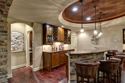 basement walk  bar traditional wine cellar