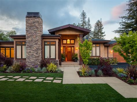 Modern Craftsman Style Home Exterior Modern Ranch Style ...