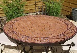 Table Ronde Mosaique. table ronde en mosa que 90 cm. table mosaique ...