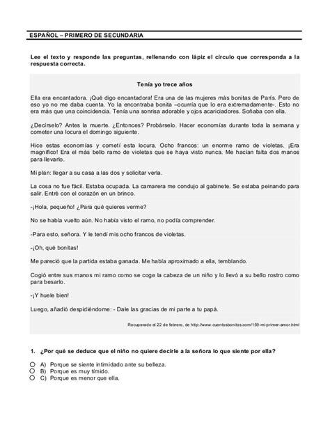 Lecturas Con Preguntas Y Respuestas 1º Secundaria (1