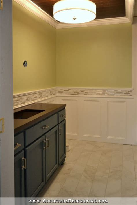Tile Wainscoting Ideas by Finished Recessed Panel Wainscoting Judges Paneling With