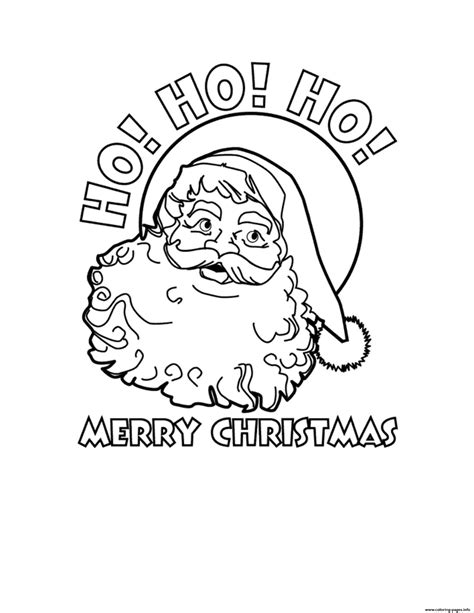 merry coloring pages santa claus ho ho ho merry coloring pages printable