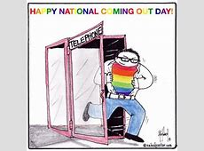 Happy National Coming Out Day Cartoon lGBT and Cartoon