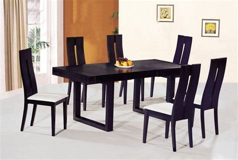 contemporary luxury wooden dinner table and chairs
