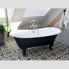 Freistehende Badewanne Bristol Aus Guss  Weiß 180x76x69