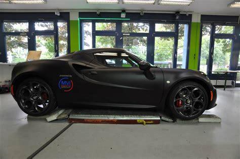 Deep Matte Black Alfa Romeo 4c In Munich