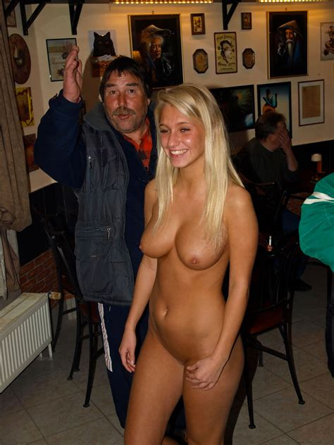Only One Naked At The Bar Nudeshots