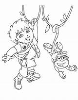 Diego Coloring Pages Go Printable Print Dora Jaguar Monkey Explorer Swinging Sheets Printables Bestcoloringpagesforkids Adventures Prints Boots Characters Cool Getcoloringpages sketch template