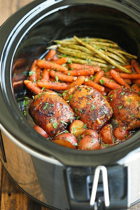 crock pot meal slow cooker honey garlic chicken and vegetables 60 perfectly seasonal fall slow cooker