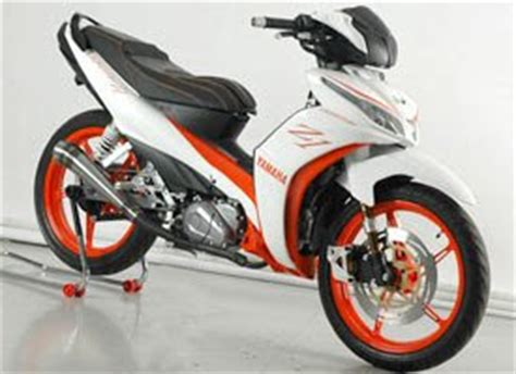 Modif Jupiter Z Orange by Modifikasi Sepeda Motor Yamaha Jupiter Z1 Putih Oto Trendz