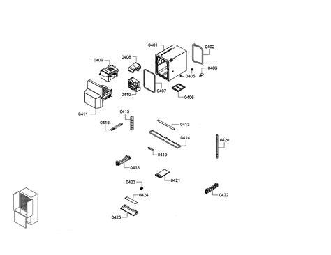 bosch model bftsns bottom mount refrigerator genuine parts