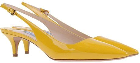 prada slingbacks  yellow lyst
