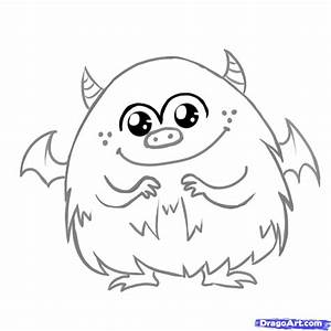 How to Draw a Cute Monster, Step by Step, Creatures ...