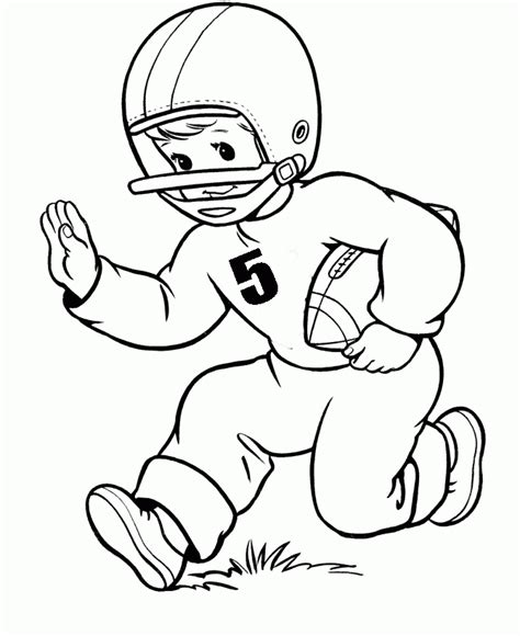 football coloring sheets football player number five coloring pages football