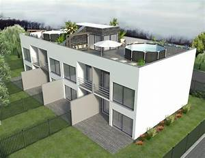 exklusive prestige reihenhauser mit garten oder und luxus With französischer balkon mit luxus pool im garten